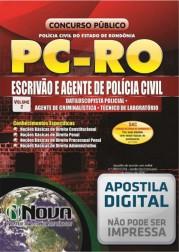 Escrivão, Agente de Polícia, Agente de Criminalista, Técnico de Laboratório e Datiloscopista Policial