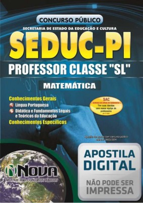 "Professor Classe ""SL"" - Matemática"