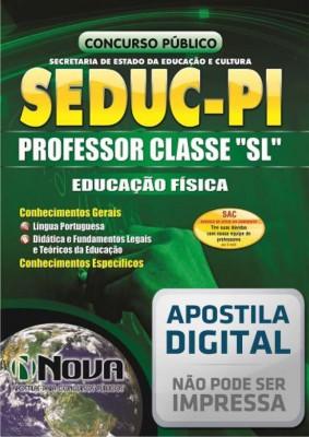 """Professor Classe """"SL"""" - Educação Física"""