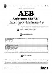 Assistente em C&T/3/1 - Apoio Administrativo