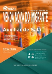 Apostila Prefeitura de Venda Nova do Imigrante – Auxiliar de Sala