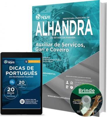 Apostila Prefeitura de Alhandra - Auxiliar de Serviços, Gari e Coveiro
