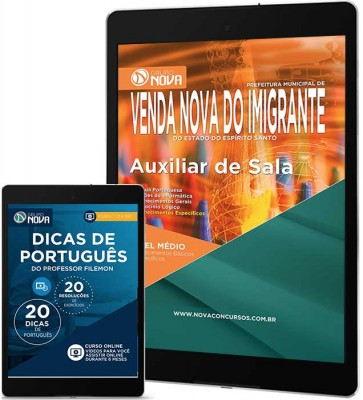 Download Apostila Prefeitura de Venda Nova do Imigrante – Auxiliar de Sala