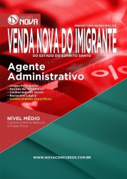Download Apostila Prefeitura de Venda Nova do Imigrante – Agente Administrativo