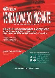 Apostila Prefeitura de Venda Nova do Imigrante – Comum aos Cargos de Nível Fundamental