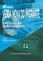Apostila Prefeitura de Venda Nova do Imigrante – Técnico de Enfermagem