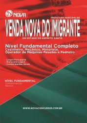 Download Apostila Prefeitura de Venda Nova do Imigrante – Comum aos Cargos de Nível Fundamental