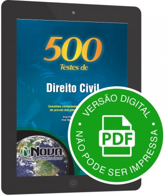 500 Testes de Direito Civil (Digital)