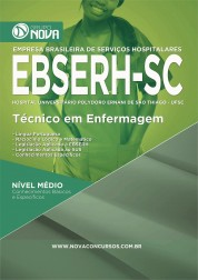 Download Apostila EBSERH - SC Pdf – Técnico de Enfermagem