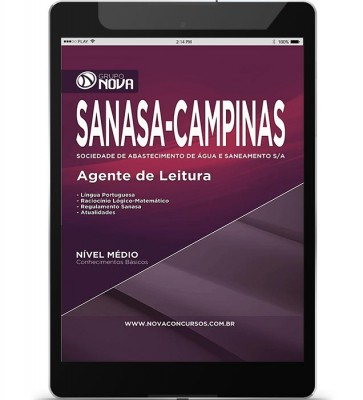 Download Apostila SANASA Pdf – Agente de Leitura