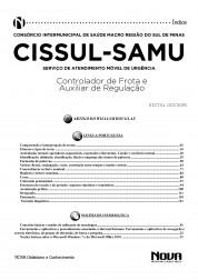 Download Apostila CISSUL - MG Pdf – Controlador de Frota e Auxiliar de Regulação