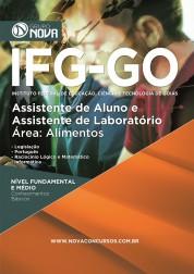 Download Apostila IFG - GO Pdf – Assistente de Aluno e Assistente de Laboratório - Área: Alimentos