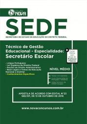 Apostila SEDF – Técnico de Gestão Educacional - Especialidade: Secretário Escolar