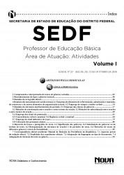 Download Apostila SEDF Pdf – Professor de Educação Básica – Área de Atuação: Atividades