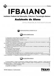 Apostila IFBAIANO - Assistente de Alunos