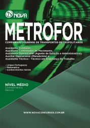 Download Apostila METROFOR Pdf – Comum a Diversos Cargos
