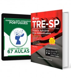 Combo TRE - SP 2017 - Apostila Técnico Judiciário - Área Administrativa + Curso Online de Português
