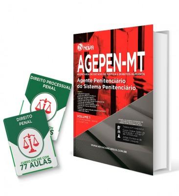 Combo AGEPEN - MT - Apostila Impressa Agente Penitenciário + Curso Online