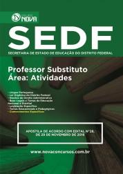Download Apostila SEDF Pdf – Professor Substituto - Área: Atividades