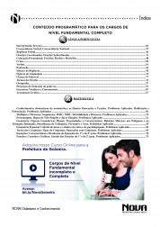 Apostila Goianira 2016 – Comum aos cargos de Nível Fundamental Completo