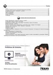 Download Apostila Goianira Pdf 2016 – Agente Administrativo