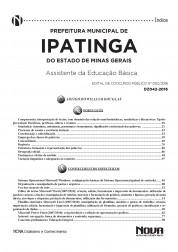 Apostila Ipatinga – Assistente da Educação Básica