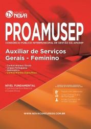Apostila PROAMUSEP – Auxiliar de Serviços Gerais - Feminino