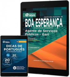 Download Apostila Boa Esperança Pdf – Agente de Serviços Públicos - Gari