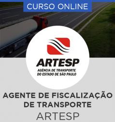 Curso Online ARTESP - Agente de Fiscalização à Regulação de Transporte