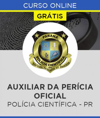 Curso Online Grátis Polícia Científica - PR - Auxiliar da Perícia Oficial