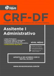 Apostila CRF - DF – Assistente I - Administrativo