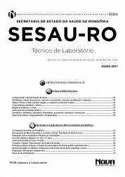 Apostila SESAU - RO – Técnico de Laboratório