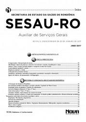 Apostila SESAU - RO – Auxiliar de Serviços Gerais