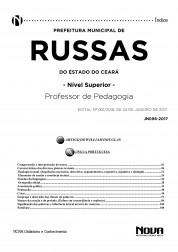 Apostila Prefeitura de Russas - CE - Professor de Pedagogia