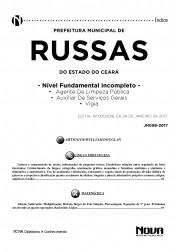 Apostila Prefeitura de Russas - CE – Agente de limpeza pública, Auxiliar de serviços gerais e Vigia