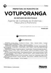 Apostila Prefeitura Municipal de Votuporanga - SP – Agente de Combate às Endemias