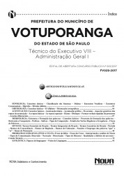Apostila Prefeitura Municipal de Votuporanga - SP – Técnico do Executivo VIII – Administração Geral I