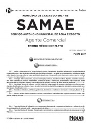 Apostila SAMAE - RS – Agente Comercial