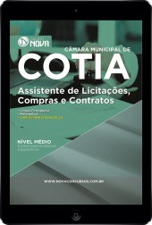 Download Apostila Câmara de Cotia - SP Pdf – Assistente de Licitações, Compras e Contratos