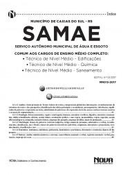 Apostila SAMAE - RS – Cargos de Nível Médio