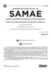Apostila SAMAE - RS – Cargos de Nível Fundamental