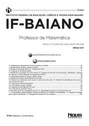 Download Apostila IFBAIANO - BA PDF – Professor de Matemática