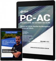 Download Apostila PC-AC - Agente, Auxiliar de Necropsia e Escrivão de Policia