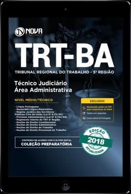 Download Apostila TRT-BA 5ª região Pdf - Técnico Judiciário Área: Administrativa