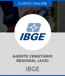 Curso Online IBGE - Agente Censitário Regional