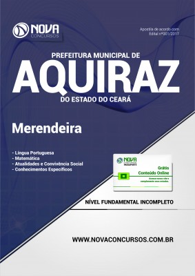 Apostila Prefeitura de Aquiraz - CE - Merendeira