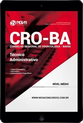 Download Apostila CRO-BA Pdf - Técnico Administrativo