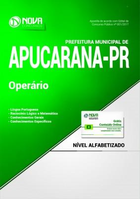 Apostila Prefeitura de Apucarana PR - Operário