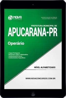 Download Apostila Prefeitura de Apucarana PR Pdf - Operário
