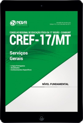 Download Apostila CREF-17/MT Pdf - Serviços Gerais